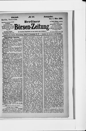 Berliner Börsen-Zeitung vom 04.03.1886
