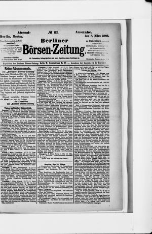 Berliner Börsen-Zeitung vom 08.03.1886
