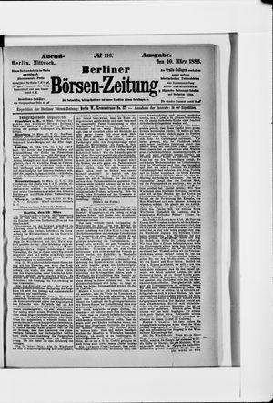 Berliner Börsen-Zeitung vom 10.03.1886