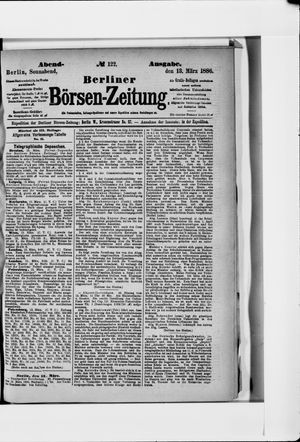 Berliner Börsen-Zeitung vom 13.03.1886