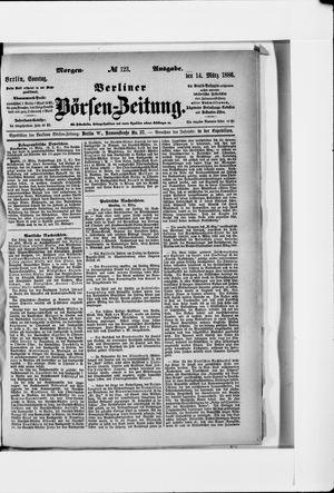 Berliner Börsen-Zeitung vom 14.03.1886