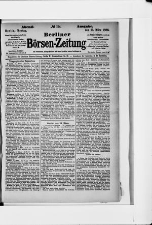 Berliner Börsen-Zeitung vom 15.03.1886