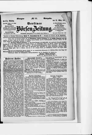 Berliner Börsen-Zeitung vom 21.03.1886