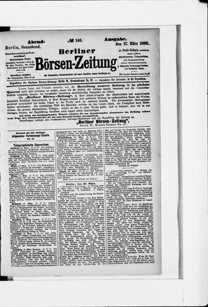 Berliner Börsen-Zeitung vom 27.03.1886