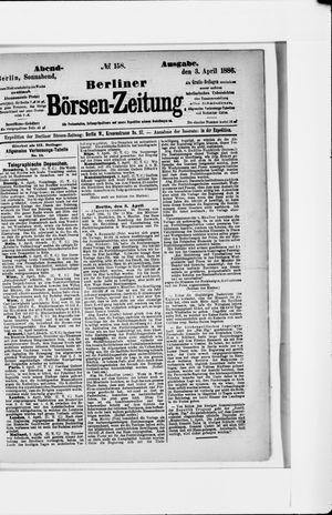 Berliner Börsen-Zeitung vom 03.04.1886