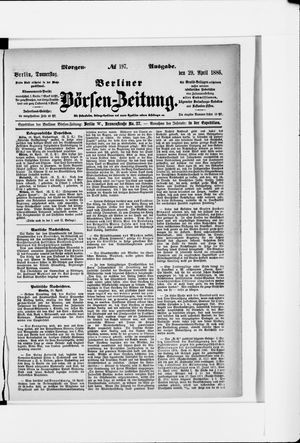 Berliner Börsen-Zeitung vom 29.04.1886
