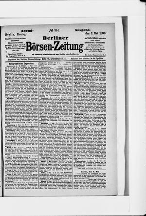 Berliner Börsen-Zeitung vom 03.05.1886