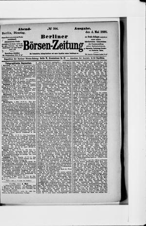 Berliner Börsen-Zeitung vom 04.05.1886