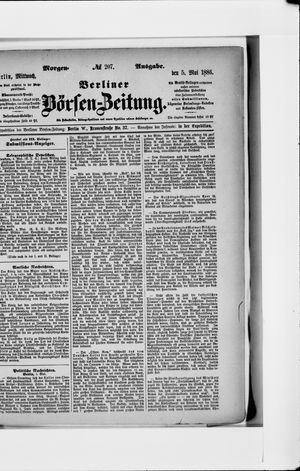 Berliner Börsen-Zeitung vom 05.05.1886