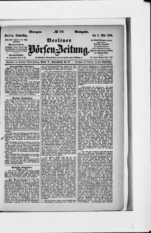 Berliner Börsen-Zeitung vom 06.05.1886