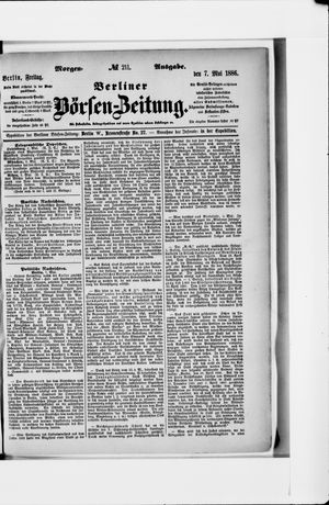 Berliner Börsen-Zeitung vom 07.05.1886