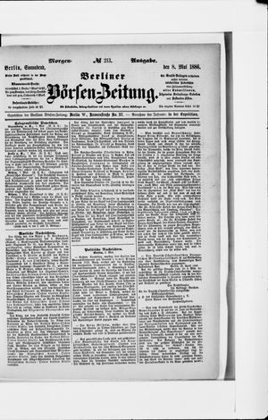 Berliner Börsen-Zeitung vom 08.05.1886