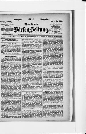 Berliner Börsen-Zeitung vom 09.05.1886