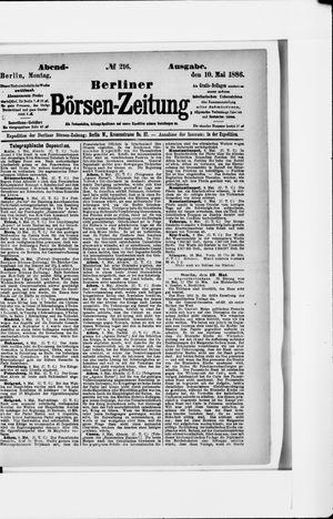 Berliner Börsen-Zeitung vom 10.05.1886