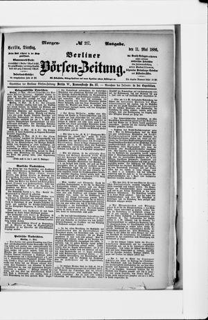 Berliner Börsen-Zeitung vom 11.05.1886