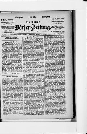 Berliner Börsen-Zeitung vom 12.05.1886