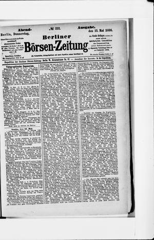 Berliner Börsen-Zeitung vom 13.05.1886