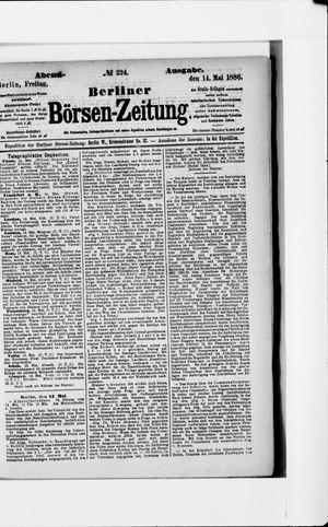 Berliner Börsen-Zeitung vom 14.05.1886