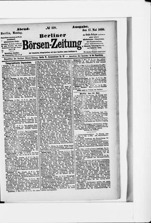 Berliner Börsen-Zeitung vom 17.05.1886