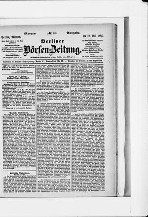 Berliner Börsen-Zeitung vom 19.05.1886
