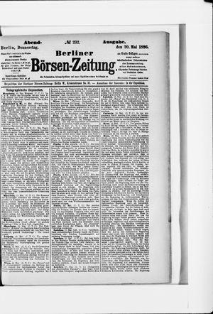 Berliner Börsen-Zeitung vom 20.05.1886