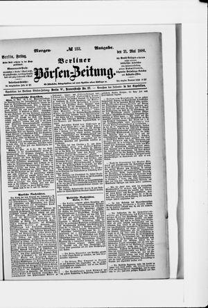 Berliner Börsen-Zeitung vom 21.05.1886