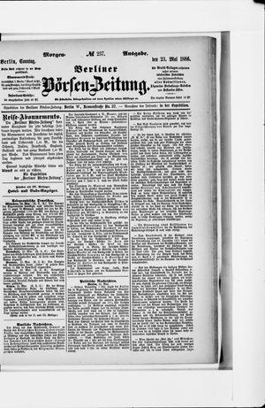 Berliner Börsen-Zeitung vom 23.05.1886