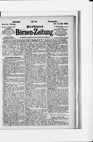 Berliner Börsen-Zeitung vom 24.05.1886