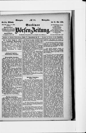 Berliner Börsen-Zeitung vom 26.05.1886