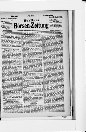 Berliner Börsen-Zeitung vom 27.05.1886
