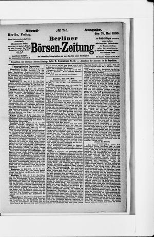 Berliner Börsen-Zeitung vom 28.05.1886