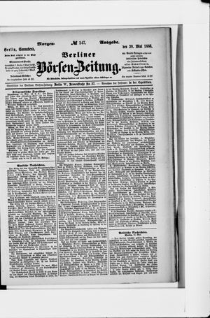 Berliner Börsen-Zeitung vom 29.05.1886