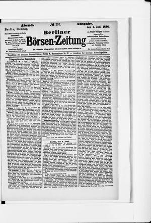 Berliner Börsen-Zeitung vom 01.06.1886