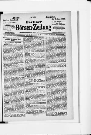 Berliner Börsen-Zeitung vom 05.06.1886