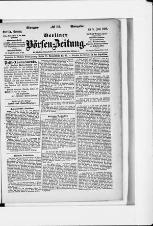 Berliner Börsen-Zeitung vom 06.06.1886