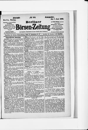 Berliner Börsen-Zeitung vom 07.06.1886
