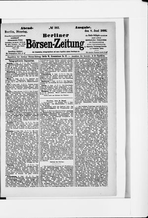 Berliner Börsen-Zeitung vom 08.06.1886