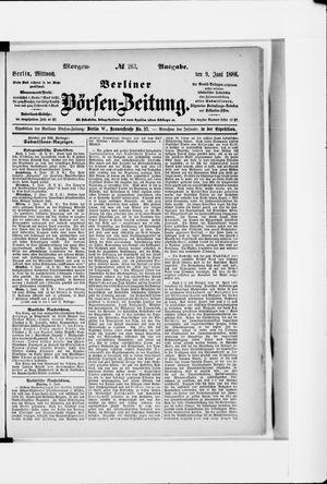 Berliner Börsen-Zeitung vom 09.06.1886