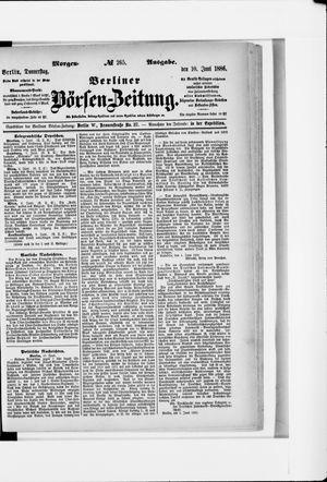 Berliner Börsen-Zeitung vom 10.06.1886
