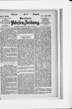 Berliner Börsen-Zeitung vom 11.06.1886