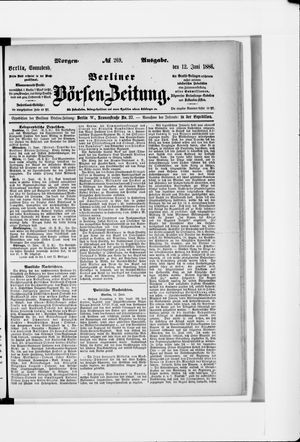 Berliner Börsen-Zeitung vom 12.06.1886