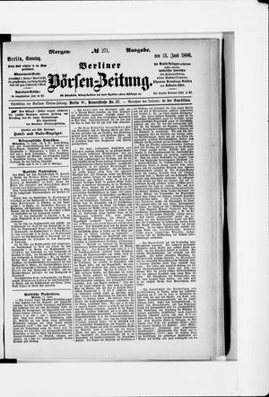 Berliner Börsen-Zeitung vom 13.06.1886