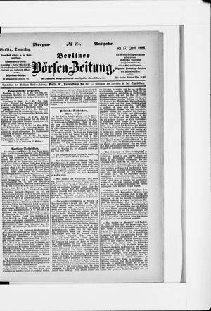 Berliner Börsen-Zeitung vom 17.06.1886