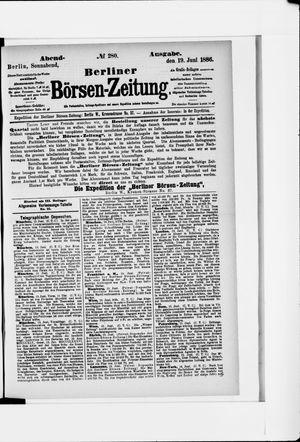 Berliner Börsen-Zeitung vom 19.06.1886