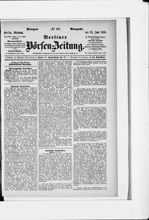 Berliner Börsen-Zeitung vom 23.06.1886