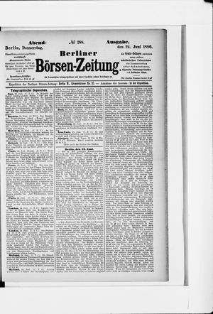 Berliner Börsen-Zeitung vom 24.06.1886
