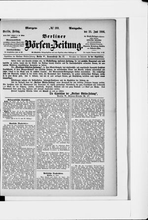 Berliner Börsen-Zeitung vom 25.06.1886