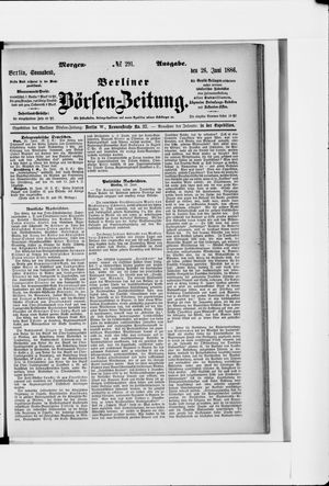 Berliner Börsen-Zeitung vom 26.06.1886