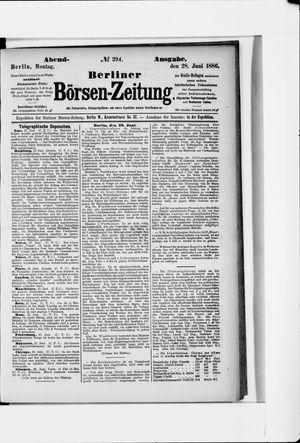 Berliner Börsen-Zeitung vom 28.06.1886