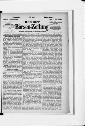 Berliner Börsen-Zeitung vom 01.07.1886